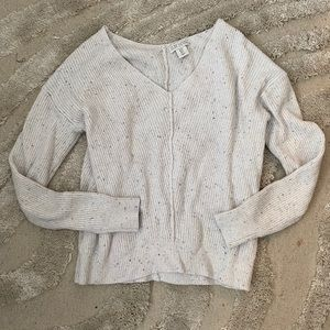 Cute cream speckled sweater